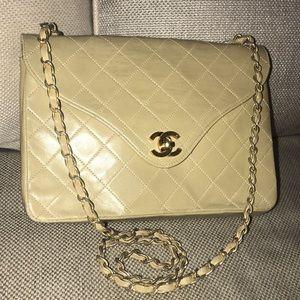 Authentic Chanel Lambskin Chain Matelasse Bag